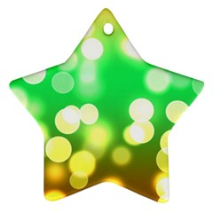 Soft Lights Bokeh 3 Ornament (Star)