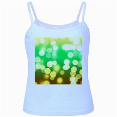 Soft Lights Bokeh 3 Baby Blue Spaghetti Tank