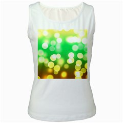 Soft Lights Bokeh 3 Women s White Tank Top