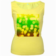 Soft Lights Bokeh 3 Women s Yellow Tank Top