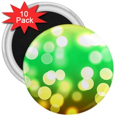 Soft Lights Bokeh 3 3  Magnets (10 pack)