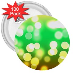 Soft Lights Bokeh 3 3  Buttons (100 pack)