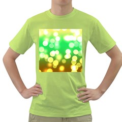 Soft Lights Bokeh 3 Green T-Shirt