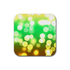 Soft Lights Bokeh 3 Rubber Square Coaster (4 pack)