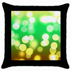 Soft Lights Bokeh 3 Throw Pillow Case (Black)