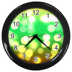 Soft Lights Bokeh 3 Wall Clocks (Black)