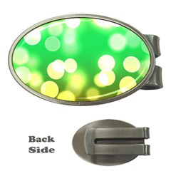 Soft Lights Bokeh 3 Money Clips (Oval)