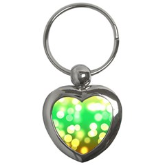 Soft Lights Bokeh 3 Key Chains (Heart)