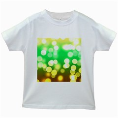Soft Lights Bokeh 3 Kids White T-Shirts