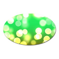 Soft Lights Bokeh 3 Oval Magnet