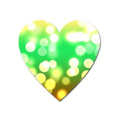 Soft Lights Bokeh 3 Heart Magnet