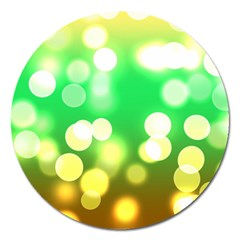 Soft Lights Bokeh 3 Magnet 5  (Round)