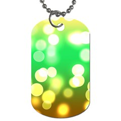 Soft Lights Bokeh 3 Dog Tag (One Side)