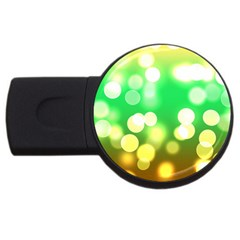 Soft Lights Bokeh 3 USB Flash Drive Round (2 GB)