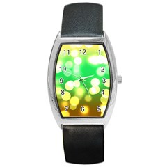 Soft Lights Bokeh 3 Barrel Style Metal Watch