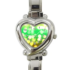 Soft Lights Bokeh 3 Heart Italian Charm Watch