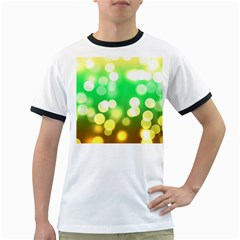 Soft Lights Bokeh 3 Ringer T-Shirts
