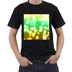 Soft Lights Bokeh 3 Men s T-Shirt (Black) (Two Sided)