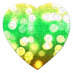 Soft Lights Bokeh 3 Jigsaw Puzzle (Heart)
