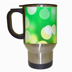 Soft Lights Bokeh 3 Travel Mugs (White)