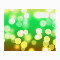 Soft Lights Bokeh 3 Small Glasses Cloth