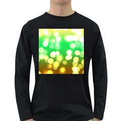 Soft Lights Bokeh 3 Long Sleeve Dark T-Shirts