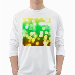 Soft Lights Bokeh 3 White Long Sleeve T-Shirts