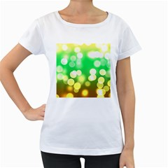 Soft Lights Bokeh 3 Women s Loose-Fit T-Shirt (White)
