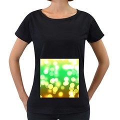 Soft Lights Bokeh 3 Women s Loose-Fit T-Shirt (Black)