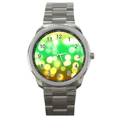 Soft Lights Bokeh 3 Sport Metal Watch