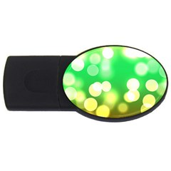 Soft Lights Bokeh 3 USB Flash Drive Oval (4 GB)