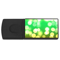 Soft Lights Bokeh 3 Rectangular USB Flash Drive