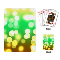 Soft Lights Bokeh 3 Playing Card