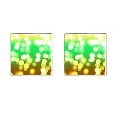 Soft Lights Bokeh 3 Cufflinks (Square)