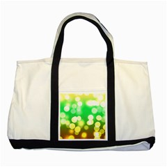 Soft Lights Bokeh 3 Two Tone Tote Bag