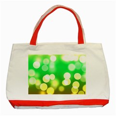 Soft Lights Bokeh 3 Classic Tote Bag (Red)