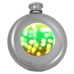 Soft Lights Bokeh 3 Round Hip Flask (5 oz)