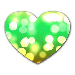Soft Lights Bokeh 3 Heart Mousepads