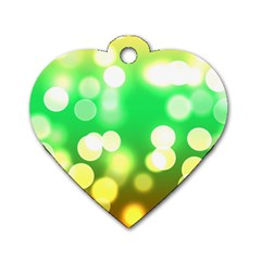 Soft Lights Bokeh 3 Dog Tag Heart (One Side)