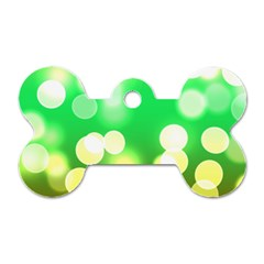 Soft Lights Bokeh 3 Dog Tag Bone (One Side)