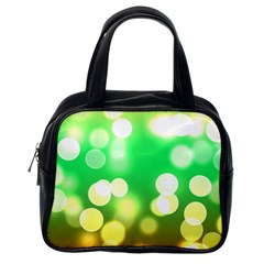 Soft Lights Bokeh 3 Classic Handbags (One Side)
