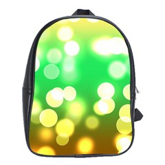 Soft Lights Bokeh 3 School Bag (Large)