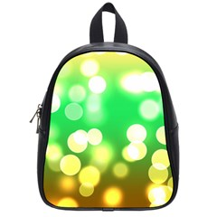 Soft Lights Bokeh 3 School Bag (Small)
