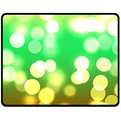 Soft Lights Bokeh 3 Fleece Blanket (Medium)