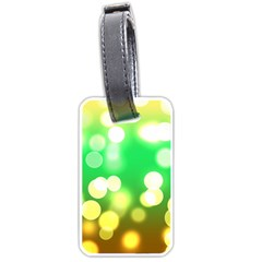 Soft Lights Bokeh 3 Luggage Tags (One Side)