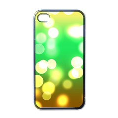 Soft Lights Bokeh 3 Apple iPhone 4 Case (Black)