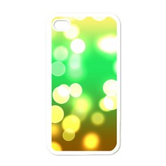 Soft Lights Bokeh 3 Apple iPhone 4 Case (White)