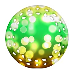 Soft Lights Bokeh 3 Ornament (Round Filigree)