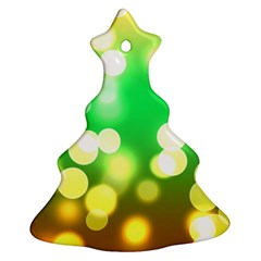 Soft Lights Bokeh 3 Christmas Tree Ornament (Two Sides)
