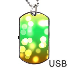 Soft Lights Bokeh 3 Dog Tag USB Flash (One Side)